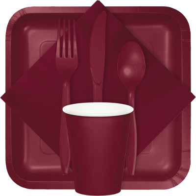 Burgundy Tableware & Solid Colors - 10