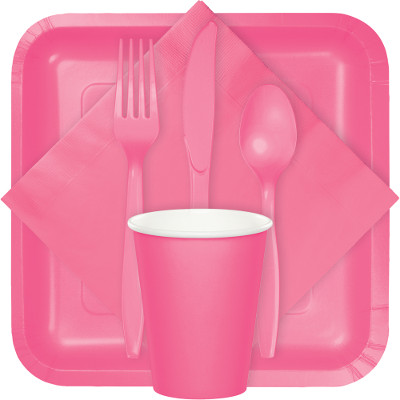 Candy Pink Tableware Candy Pink Tableware  sc 1 st  Bu0026G Paper Products & Solid Colors - 10
