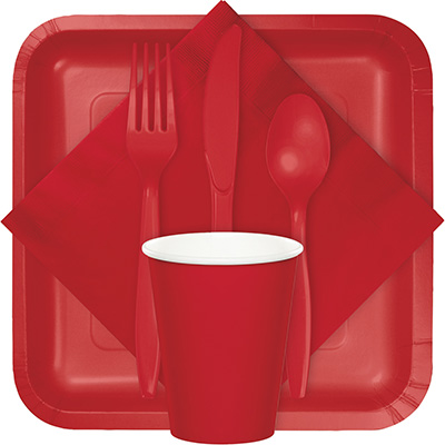 Classic Red Tableware Classic Red Tableware  sc 1 st  B\u0026G Paper Products & Solid Colors - 10\