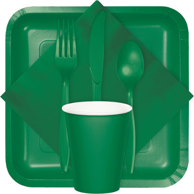 Emerald Green Tableware  sc 1 st  B\u0026G Paper Products & Solid Colors - 10\
